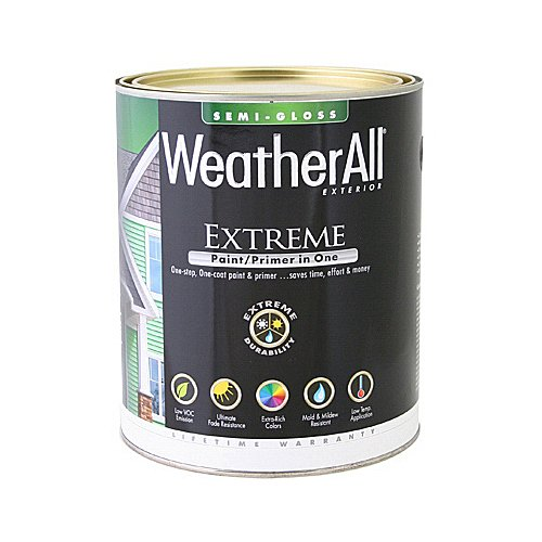 true value mfg company waesg9-qt WASES9, True Value, Premium Weatherall Extreme, Paint/Primer In One, QT, White, Semi-Gloss Paint (Paint Patio)