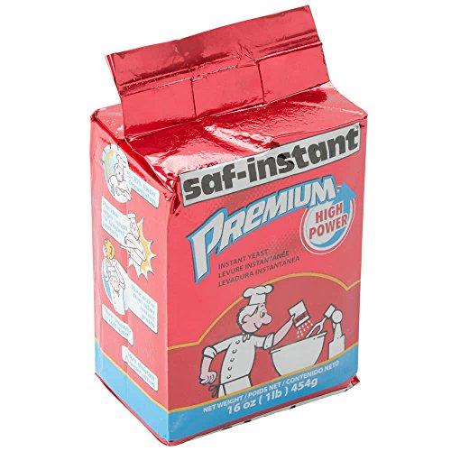 TableTop King Lesaffre SAF-Instant Premium Yeast 1 lb. Vacuum Pack - 20/Case by TableTop Kink (Image #1)