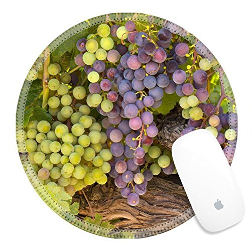 Luxlady Round Gaming Mousepad 26620166 Ripening wine grapes on the vine ()