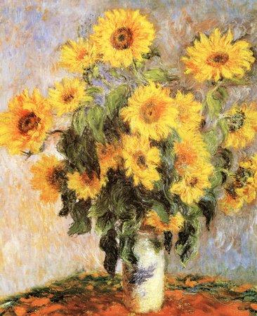 Sunflowers, c.1881 Art Poster Print by Claude Monet, 11x14 1881 Poster Print