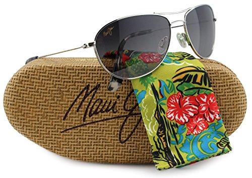 Maui Jim GS245-17 Baby Beach Sunglasses Silver w/ Neutral Gray GS245 17 57mm - Sunglasses Maui Baby Beach Jim Silver