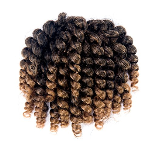 3 Packs 2X Ringlet Wand Curl Jamaican Bounce 8 inch Synthetic Crochet Hair Extensions Havana Mambo Twist Braiding Hair 20 Roots (#T1B/27) - Hair Ringlets