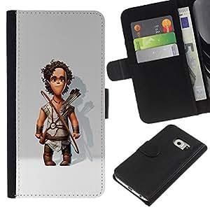 iBinBang / Flip Funda de Cuero Case Cover - Cartoon Bow Arrows 3D - Samsung Galaxy S6 EDGE SM-G925
