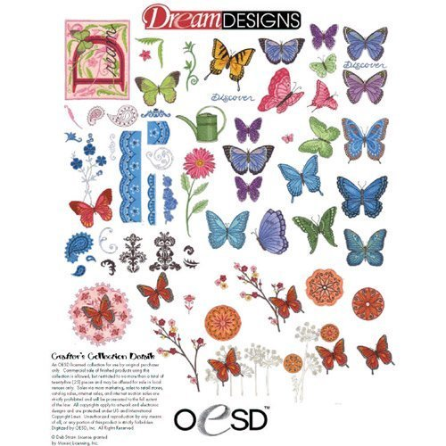 (OESD BUTTERFLY DREAMS Embroidery Machine Designs CD)