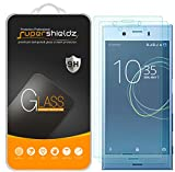 (2 Pack) Supershieldz for Sony (Xperia XZ1 Compact) Tempered Glass Screen Protector, Anti Scratch, Bubble Free