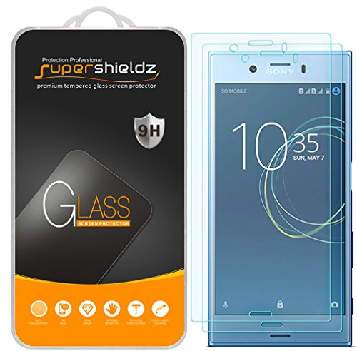 "Price comparison product image [2-Pack] Supershieldz for Sony ""Xperia XZ1 Compact"" Tempered Glass Screen Protector, Anti-Scratch, Anti-Fingerprint, Lifetime Replacement Warranty"