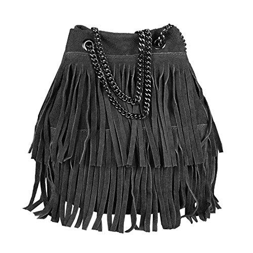 OBC Only-Beautiful-Couture, Sac pour femme à porter à l'épaule Gris Dunkelgrau 20x25x19 Cm 20x25x19 cm (BxHxT) Schwarz 20x25x19 Cm