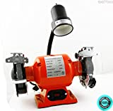 SKEMIDEX---6'' Bench Grinder With Light bright flexible work light spark guard 1/2 HP ul cul And bench grinder reviews bench grinder home depot bench grinder harbor freight bench grinder ryobi 8 inch