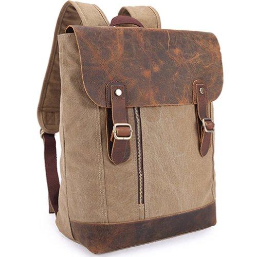 Kaxidy Leinwand Rucksäcke Trekkingrucksack Lederhandtaschen Laptop Notebook Rucksack