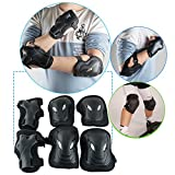 vinmax Crash-proof Children Kids Sports Protective Gear Set Safety Pad Safeguard Adjustable Knee Elbow Wrist Braces Pads Kit 6 pcs for Skateboard Cycling Rollerblading Skating Volleyball by
