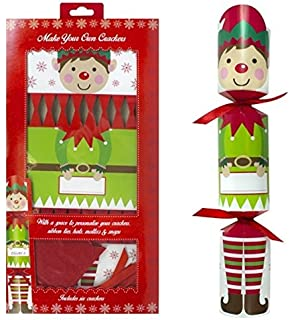 Make your own silver christmas crackers pack of 6 amazon pack of 6 make your own personalised christmas crackers hats snaps cute elf solutioingenieria Images
