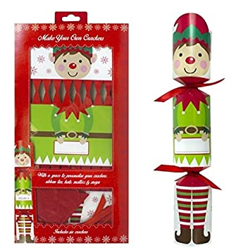 Pack of 6 make your own personalised christmas crackers hats snaps pack of 6 make your own personalised christmas crackers hats snaps cute elf solutioingenieria Images
