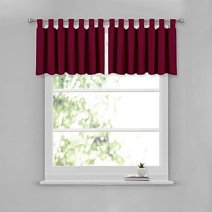 NICETOWN Short Window Treatment Curtain Valance