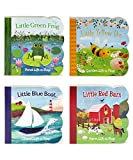 img - for 4 Pack Chunky Lift a Flap Board Books: Little Red Barn/ Little Blue Boat/Little Green Frog/Little Yellow Bee book / textbook / text book