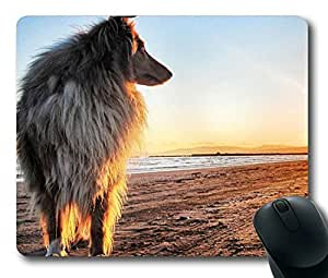 Sunset and Dog Easter Thanksgiving Personlized Masterpiece Limited Design Oblong Mouse Pad by Cases & Mousepads