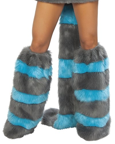 J. Valentine Women's Chester Cat Legwarmers, Blue/Grey, One Size -