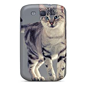 Anti-scratch And Shatterproof Nice Cat With Blue Eyes Phone Case For Galaxy S3/ High Quality Tpu Case