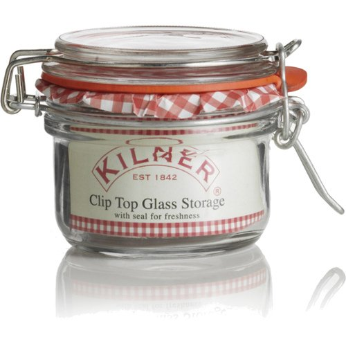 Kilner Round 4 Ounce Clip Top Jar, Set of 12 by Kilner