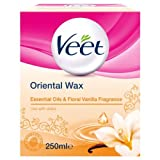 veet warm wax - Veet Essential Oils and Floral Vanilla Warm Wax 250 ml Microwavable Jar by Veet