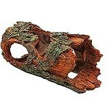 Petforu Reptiles Hide, Tree Bark Pet Habitat Décor Hideouts Cave Aquarium Décor Ornaments