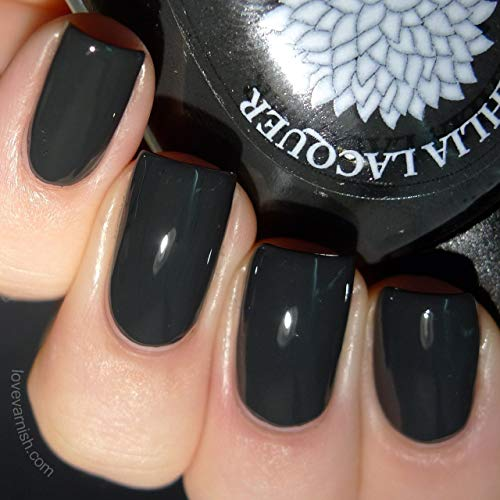 Black Iris | Soft Off-Black Creme Nail Polish | by Black Dahlia Lacquer -