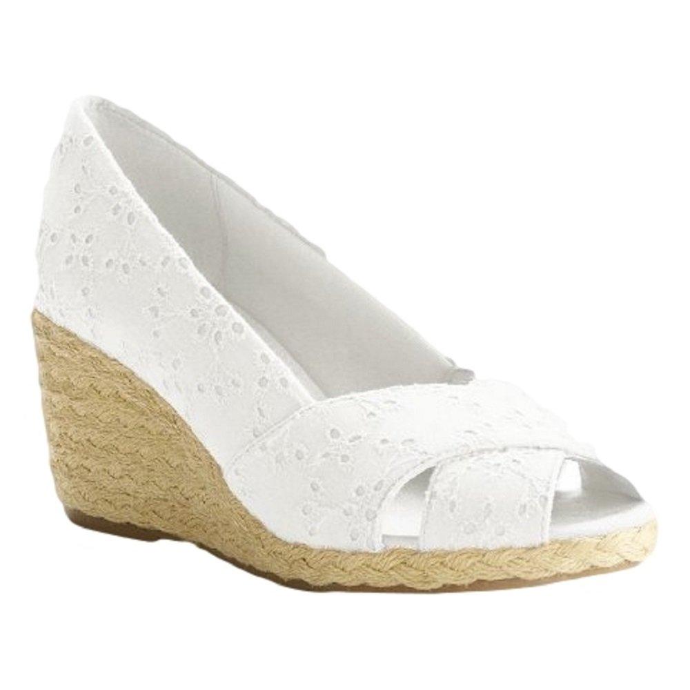 b10dd774073 Chaps White Dakoda Espadrille Wedge Heels - Women: Amazon.ca: Shoes ...