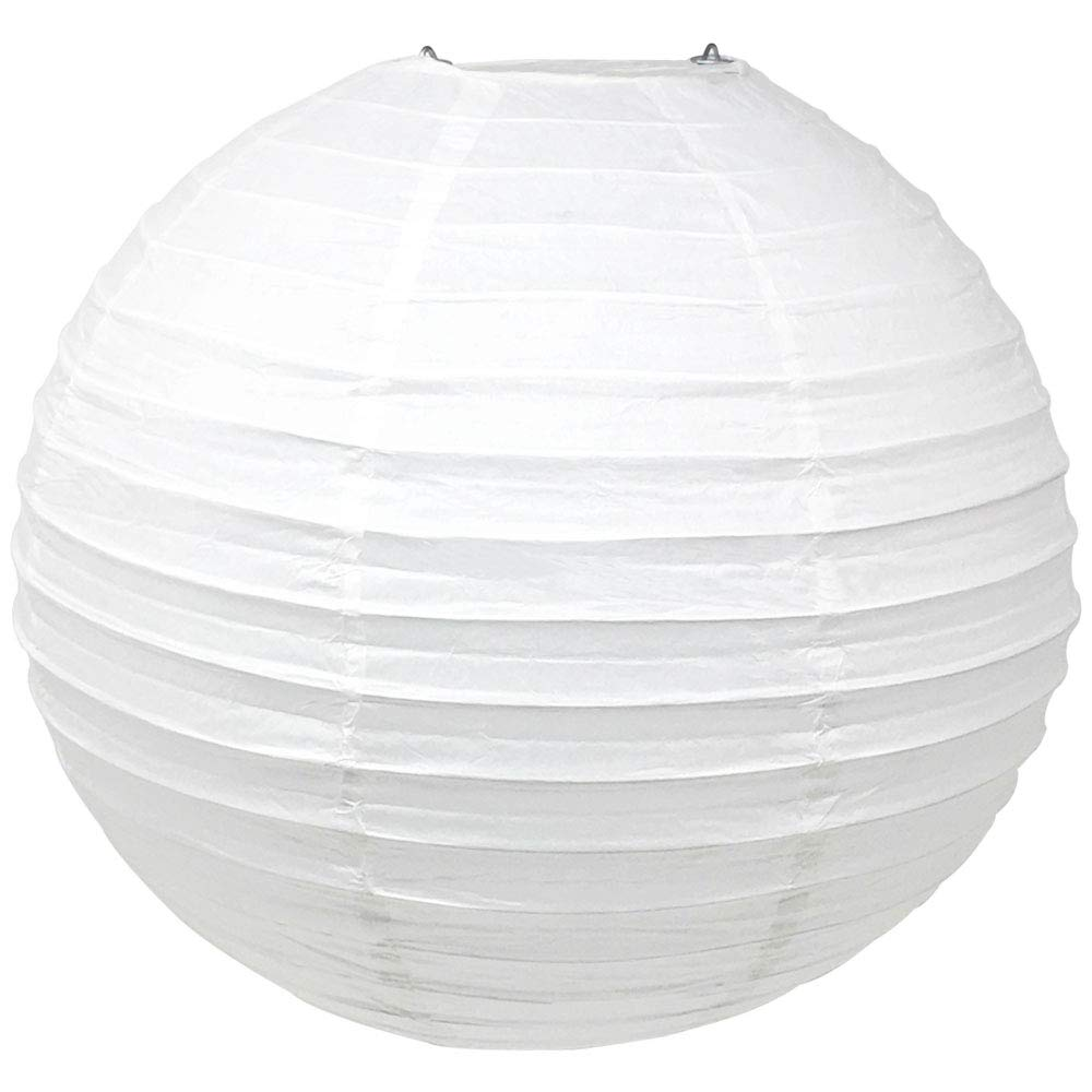 Just Artifacts 16'' White Chinese/Japanese Paper Lantern/Lamp 16'' Diameter - Just Artifacts Brand