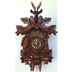 1-Day Black Forest House Clock in Antique Finish