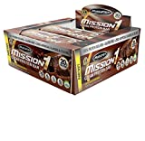 MuscleTech Mission1 Clean Protein Bar, High Protein, Low Fat, Delicious, Chocolate Brownie, 12 Count, Net Wt. 1.59 lbs. (720 g)