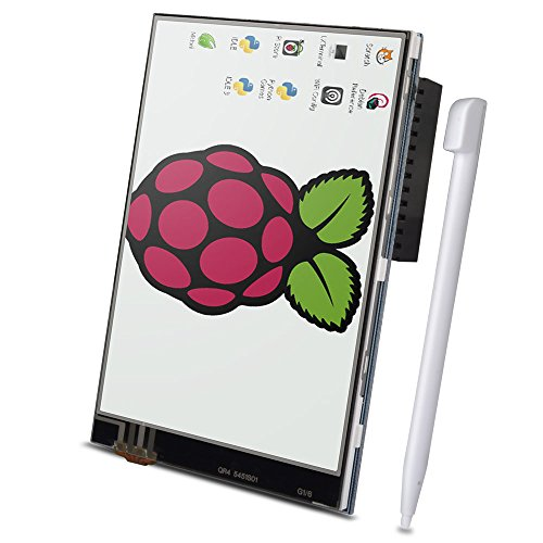 For Raspberry Pi 3 2 TFT LCD Display, Kuman 3.5 Inch 480x320 TFT Touch Screen Monitor for Raspberry Pi Model B B+ A+ A Module SPI Interface with Touch Pen SC06 (Tft Lcd Display)