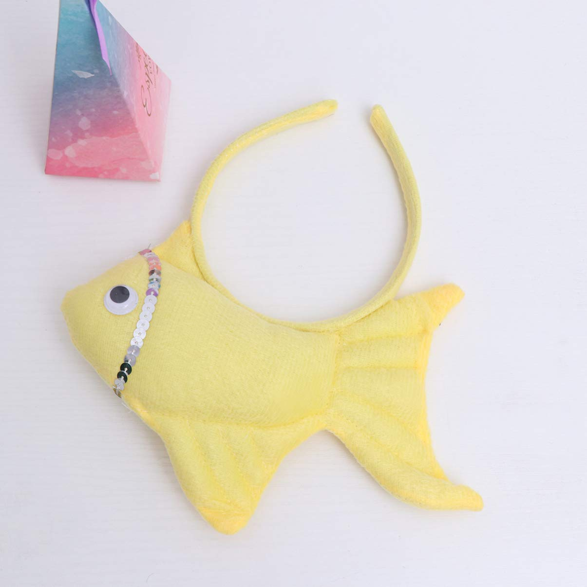 22.5cm Yellow Amosfun fascia per capelli per Halloween con pesci rossi e animali per feste di compleanno o Halloween 23