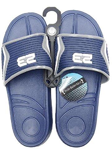 Diny Hem & Style Mens Slip-on Glid Sandaler Strand Skor Flip Flops Blå / Grå