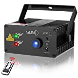 SUNY Laser Light RG DJ Laser Lights for Party Music Laser Projector 24 Gobos Red Green Laser Blue LED Stage Lighting Remote Control Sound Active Indoor Disco Home Decorative Holiday Dance Live Show Review