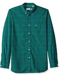 Men's Long Sleeve Gingham Oxford Button Reg Fit Woven Shirt, CH5810
