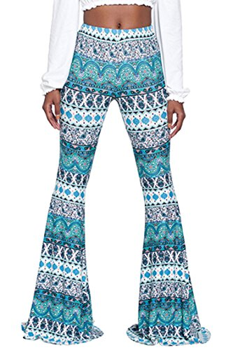 (Tall Ladies Cute Silky Geometric Patterns Disco-Themed Party Long Pant 2XL)