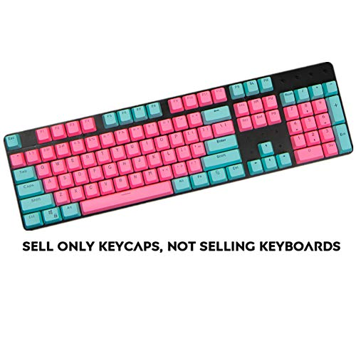 Sunzit Keycaps, 104 PBT Keys Backlight Layout Two-Color Keycaps ANSI Keyset OEM Profile Keycap for Cherry MX Mechanical…