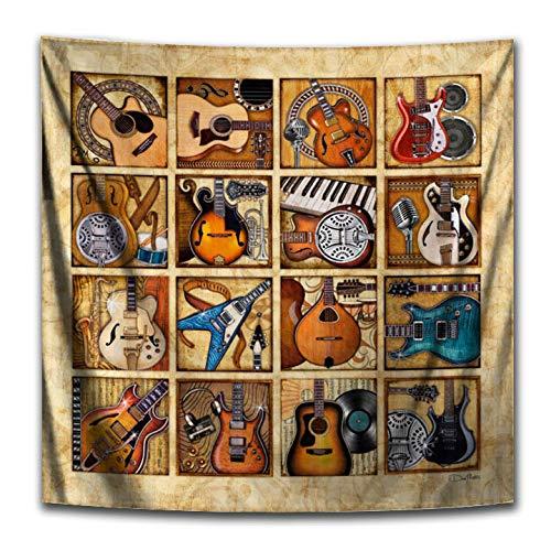 Guitars Square Tapestry by Dan Morris, 40×40