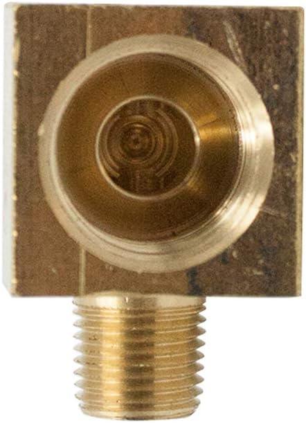Pack of 2 Barstock Brake Line 90 Degree Male Elbow Legines Brass Inverted Flare Fitting 5//16 Tube OD x 1//4 NPT Male