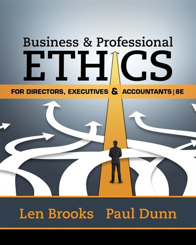 1305971450 - Business & Professional Ethics for Directors, Executives & Accountants