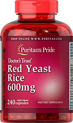 Puritan's Pride Red Yeast Rice 600 mg-240 Capsules