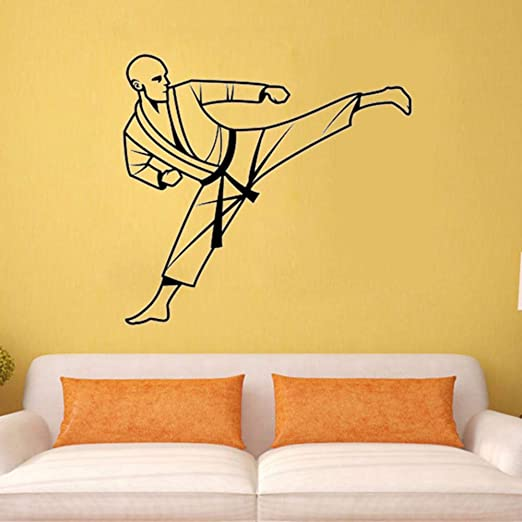 Yologg 43x45 Cm Karate Tatuajes De Pared De Vinilo Sticker