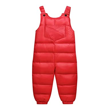 0e61372f715 Amazon.com  UONQD Kids Baby Girl Boys Thick Warm Suspenders Strap Pants  Overalls Trousers  Clothing