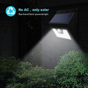 Solco Lámpara solar con sensor de movimiento, ideal para exteriores en porches, patios y jardines, BD-02A-12LED, valve: Amazon.es: Iluminación