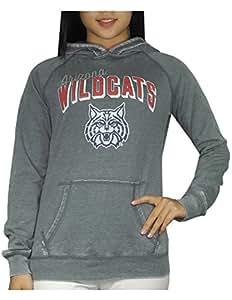 Womens ARIZONA WILDCATS Athletic Pullover Hoodie (Vintage Look) L Grey