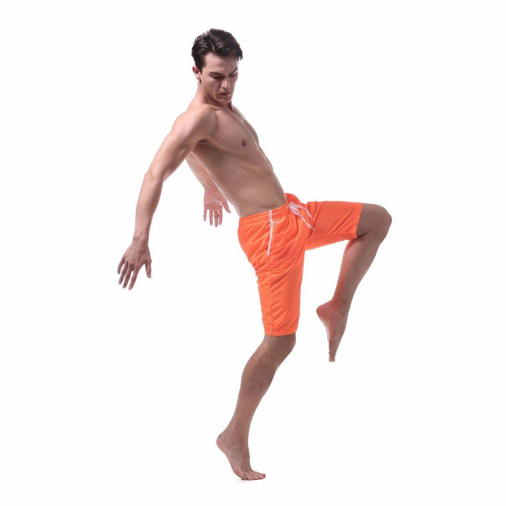 Inverlee-Mens Shorts Swim Trunks Quick Dry Beach Surfing Running Swimming Watershort
