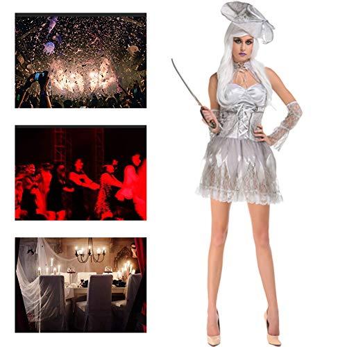 Courts Bride Halloween (JH&MM Halloween Costume Women's European Court Ghost Bride Devil Dress Set Cosplay Masquerade)