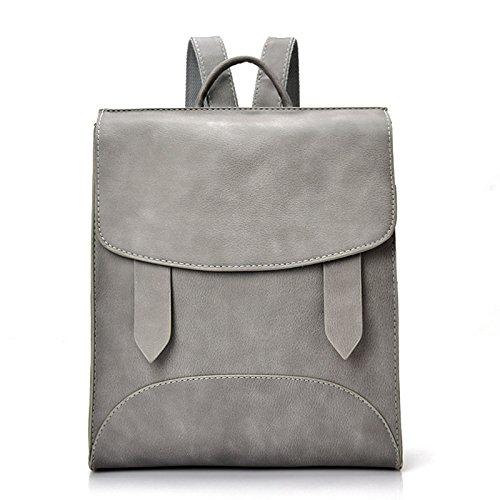 BOAOGOS Laptoprucksäcke Casual Tagesrucksäcke Hohe Qualität Frauen Rucksack Leder Taschen neue Ankunft Rucksäcke für Mädchen im Teenageralter Fashion Bag Frau Back Pack Gray