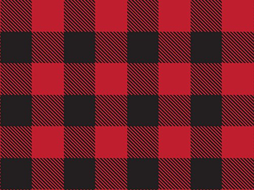Lumberjack Gift Wrap (Red Buffalo Plaid) for Christmas Wrapping, 24'' x 20 FT ROLL by Rustic Pearl Collection