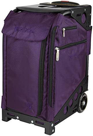 ZUCA Pro Artist Case – Royal Purple Bag and Black Frame, with 5 Vinyl Utility Pouches and a Travel Cover