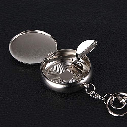 アルミ合金ポータブルカー灰皿| Jtogo.jpクリエイティブミニキーホルダー灰消火器灰皿5 * 1.7 cm